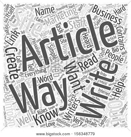 Simple Ways to Start Creating Marketing Article word cloud concept