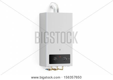 Home gas boiler water heater. 3D rendering isolated on white background