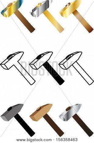 hammer set , hammer-lock , hammer ,