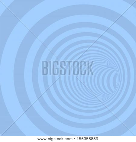 Blue Circle Striped Abstract Tunnel Background. Vector Illustration