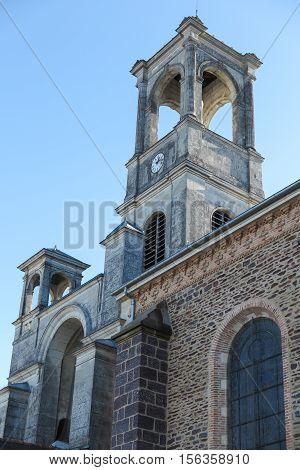 Parish Church in Montfort-sur-Meu in France the birthplace of St. Louis de Montfort. Since 1947 the Church of St. Louis Montfort.