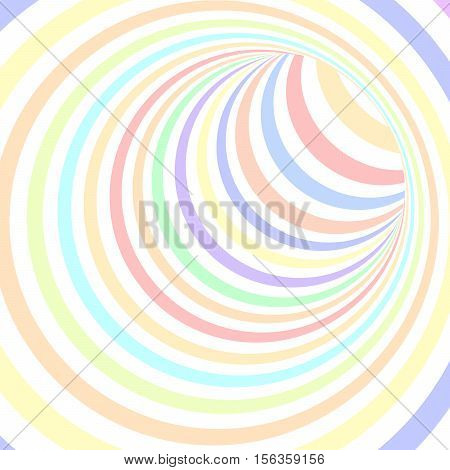 Colorful Striped Abstract Tunnel Background. Vector Illustration