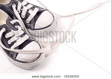 Untied Shoe Laces On Toddler Shoes
