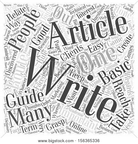 The Basic Guide on How to Write Articles word cloud concept