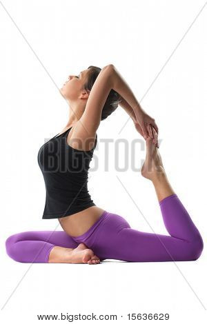 junge Yoga Female tun Yogatic exericise