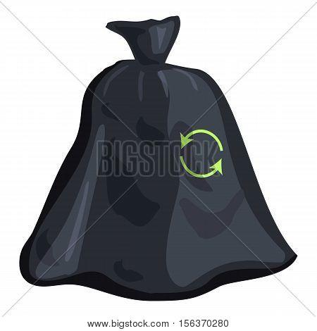 Garbage bag icon. Cartoon illustration of garbage bag vector icon for web