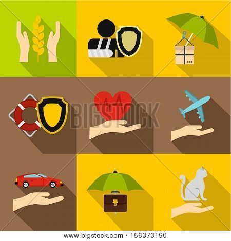 Confidence icons set. Flat illustration of 9 confidence vector icons for web