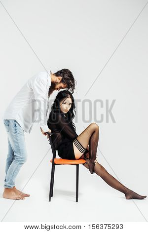 Sexy Couple On Chair