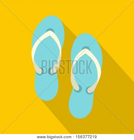 Flip flop sandals icon. Flat illustration of flip flop sandals vector icon for web design
