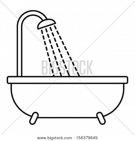 Shower icon. Outline illustration of shower vector icon for web design