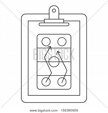 Game plan icon. Outline illustration of game plan vector icon for web