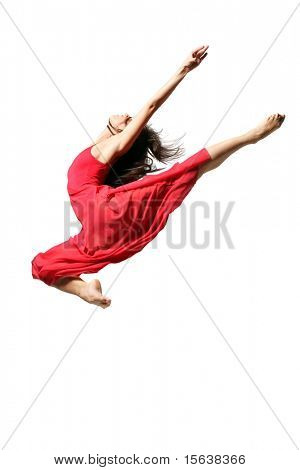 modern dancer poses in front of the white wall