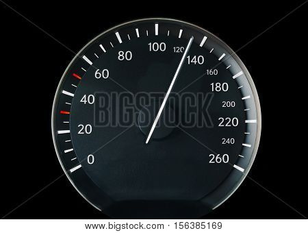 Speedometer of a car showing 130