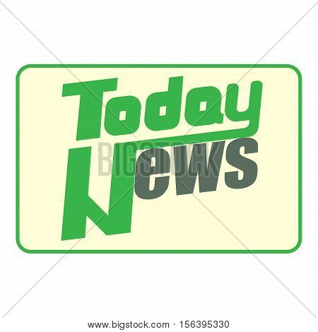 News icon. Cartoon illustration of news vector icon for web