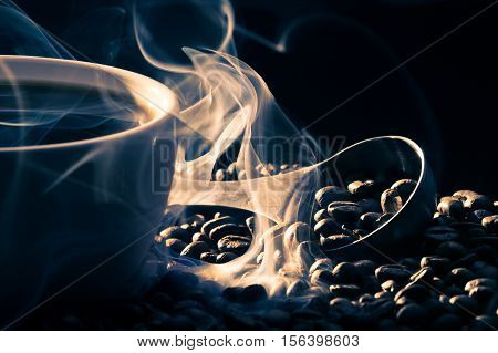Smell Of Good Cofee From Roasted Seeds