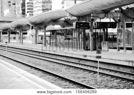 Oslo railroad transport station illustration background hd