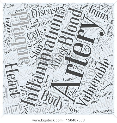 Vulnerable Plaque in Heart Disease word cloud concept