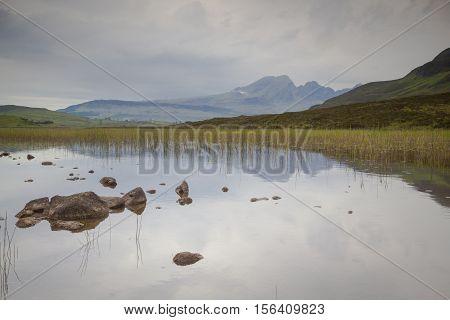 Cullin mountains refelection Isle of Skye Scotland