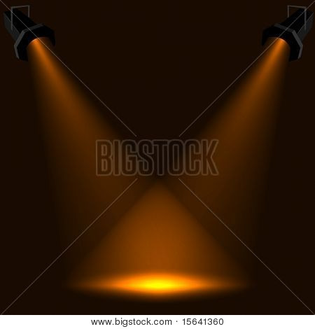 Abstract stage spotlight vector background. EPS10 file.