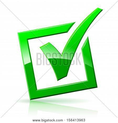 check mark box icon on white background