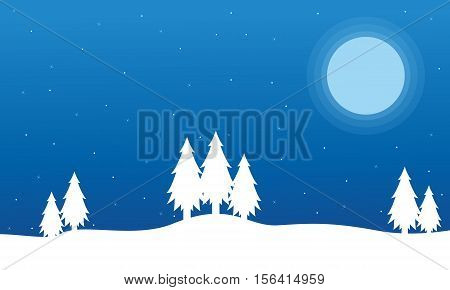 Field full snow Christmas landscape collection stock