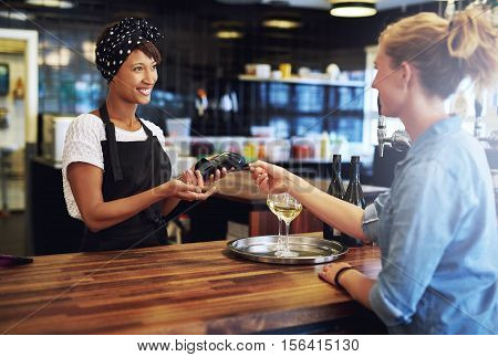 Customer Paying With A Credit Card