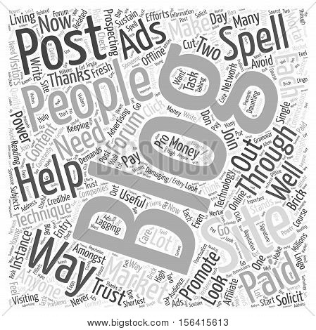 what forum posting techniques that can help you promote  text background your blog word cloud concept