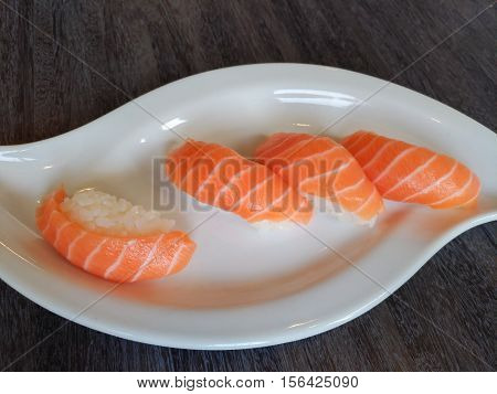 Photo of japanese food: sushi and rolls