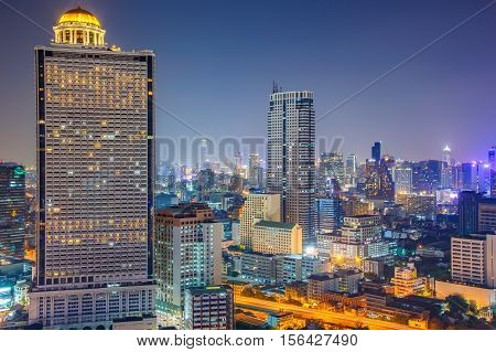 Bangkok condominium townhome business building and shopping mall center at Southeast Asia