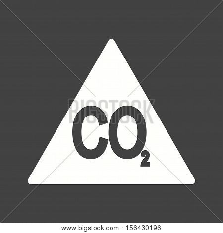 Carbon, pollution, dioxide icon vector image. Can also be used for warning caution. Suitable for mobile apps, web apps and print media.