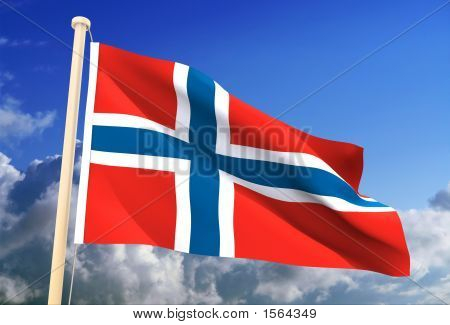 Norway Flag (Clipping Path)