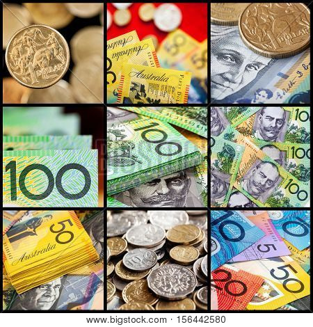 Australian money collection.  Coins and notes.