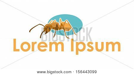 Giant ant vector icon / business identity logo