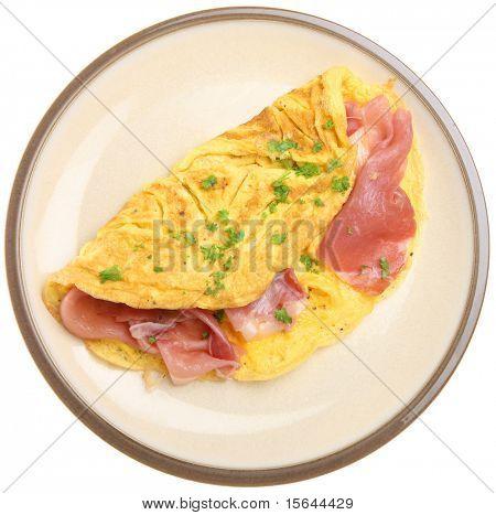 Omelett mit italienischen Parmaschinken.