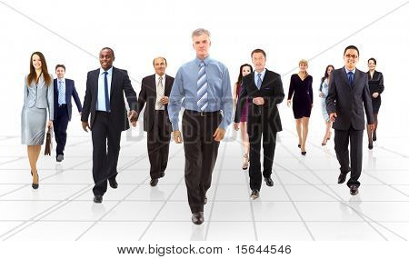 business team going