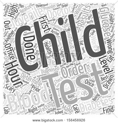 How Juvenile Diabetes is Diagnosed word cloud concept