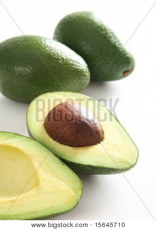 Fresh cut avocado