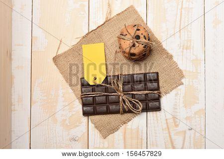 Dark Chocolate Bar Oatmeal Cookies