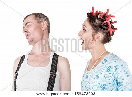 Funny Woman Screaming At Her Husband