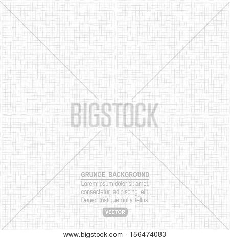 Textile fabric canvas seamless vector pattern. White texture.