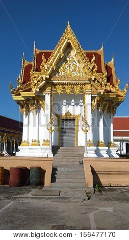 Thai style architecture entrance to temple southeast asia