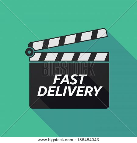 Long Shadow Clapper Board With  The Text Fast Delivery