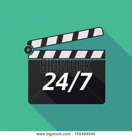 Long Shadow Clapper Board With    The Text 24/7