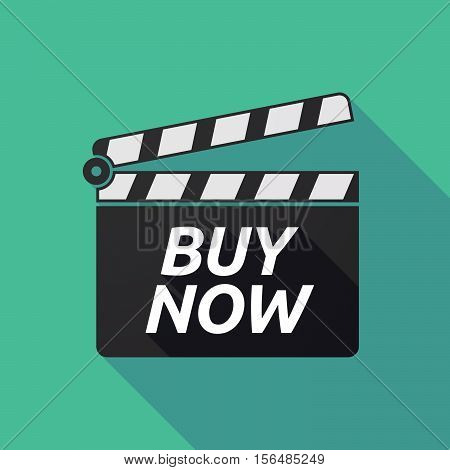 Long Shadow Clapper Board With    The Text Buy Now