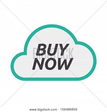 Isolated Cloud Icon With    The Text Buy Now