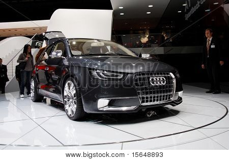 PARIS, FRANCE - OCTOBER 02: Paris Motor Show 2008, Audi A1 Concept, front view