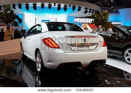 PARIS, FRANCE - OCTOBER 02: Paris Motor Show  on October 02, 2008, showing Peugeot 308 CC, front view.