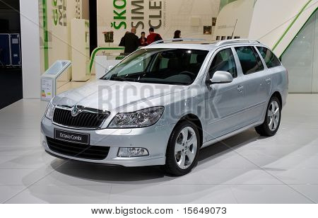 PARIS, FRANCE - OCTOBER 02: Paris Motor Show on October 02, 2008, showing Skoda Octavia Combi, front view