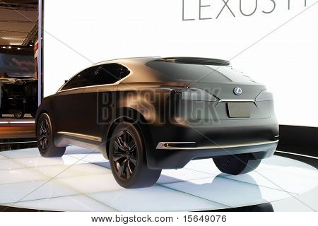 PARIS, FRANCE - OCTOBER 02: Paris Motor Show on October 02, 2008, showing Lexus LF-Xh Concept, rear view