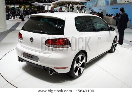 PARIS, FRANCE - OCTOBER 02: Paris Motor Show on October 02, 2008, showing Volkswagen Golf GTI, rear view